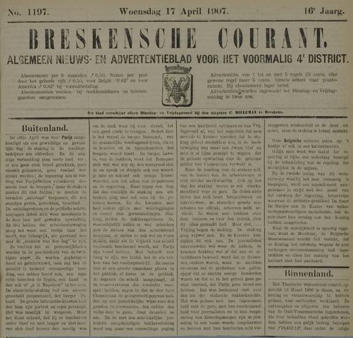 Breskensche Courant 1907-04-17