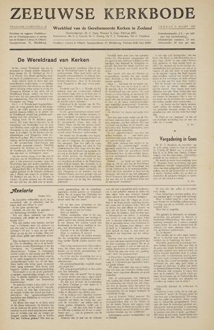 Zeeuwsche kerkbode, weekblad gewijd aan de belangen der gereformeerde kerken/ Zeeuwsch kerkblad 1957-03-08