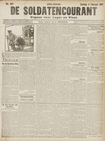De Soldatencourant. Orgaan voor Leger en Vloot 1917-02-04
