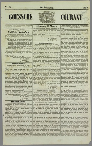 Goessche Courant 1859-03-14