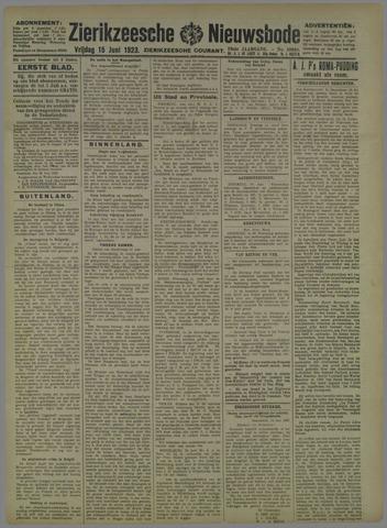 Zierikzeesche Nieuwsbode 1923-06-15