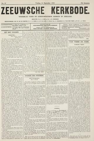 Zeeuwsche kerkbode, weekblad gewijd aan de belangen der gereformeerde kerken/ Zeeuwsch kerkblad 1938-09-16