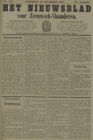 Nieuwsblad voor Zeeuwsch-Vlaanderen 1900-11-17