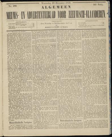 Ter Neuzensche Courant. Algemeen Nieuws- en Advertentieblad voor Zeeuwsch-Vlaanderen / Neuzensche Courant ... (idem) / (Algemeen) nieuws en advertentieblad voor Zeeuwsch-Vlaanderen 1869-12-29