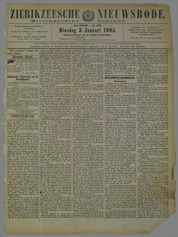 Zierikzeesche Nieuwsbode 1905-01-03