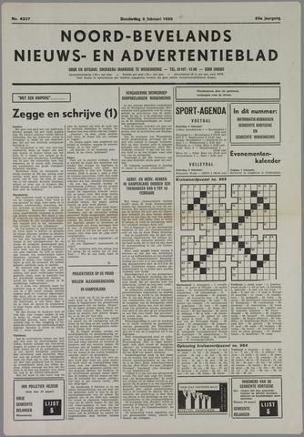Noord-Bevelands Nieuws- en advertentieblad 1986-02-06