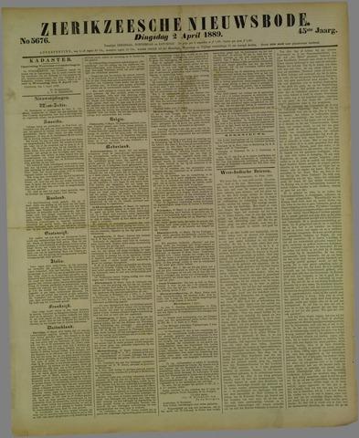 Zierikzeesche Nieuwsbode 1889-04-02