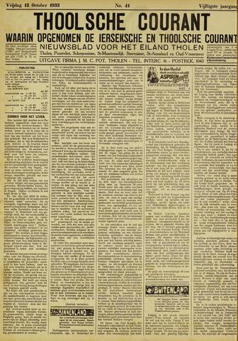 Ierseksche en Thoolsche Courant 1933-10-13