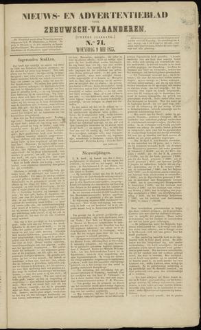Ter Neuzensche Courant. Algemeen Nieuws- en Advertentieblad voor Zeeuwsch-Vlaanderen / Neuzensche Courant ... (idem) / (Algemeen) nieuws en advertentieblad voor Zeeuwsch-Vlaanderen 1855-05-09