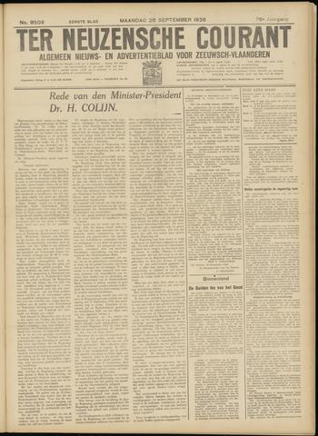 Ter Neuzensche Courant. Algemeen Nieuws- en Advertentieblad voor Zeeuwsch-Vlaanderen / Neuzensche Courant ... (idem) / (Algemeen) nieuws en advertentieblad voor Zeeuwsch-Vlaanderen 1936-09-28