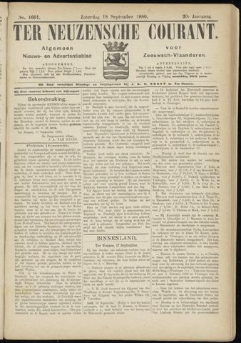 Ter Neuzensche Courant. Algemeen Nieuws- en Advertentieblad voor Zeeuwsch-Vlaanderen / Neuzensche Courant ... (idem) / (Algemeen) nieuws en advertentieblad voor Zeeuwsch-Vlaanderen 1880-09-18