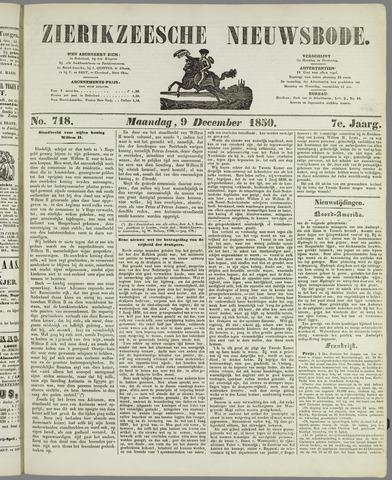 Zierikzeesche Nieuwsbode 1850-12-09
