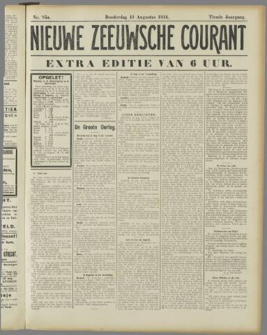 Nieuwe Zeeuwsche Courant 1914-08-13