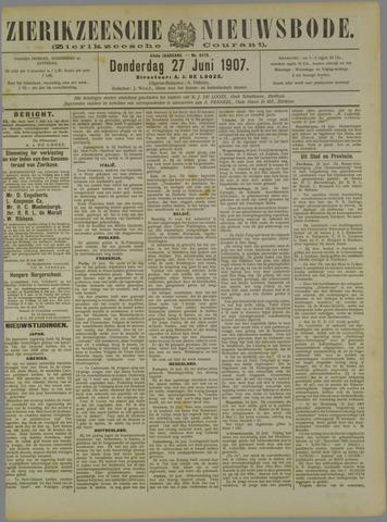 Zierikzeesche Nieuwsbode 1907-06-27