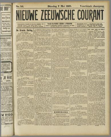 Nieuwe Zeeuwsche Courant 1918-05-07