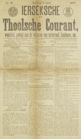Ierseksche en Thoolsche Courant 1887-04-09