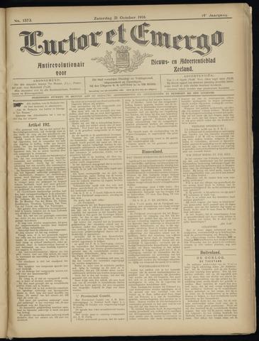 Luctor et Emergo. Antirevolutionair nieuws- en advertentieblad voor Zeeland / Zeeuwsch-Vlaanderen. Orgaan ter verspreiding van de christelijke beginselen in Zeeuwsch-Vlaanderen 1916-10-21