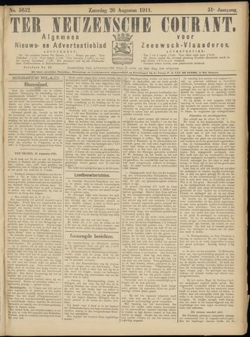 Ter Neuzensche Courant. Algemeen Nieuws- en Advertentieblad voor Zeeuwsch-Vlaanderen / Neuzensche Courant ... (idem) / (Algemeen) nieuws en advertentieblad voor Zeeuwsch-Vlaanderen 1911-08-26