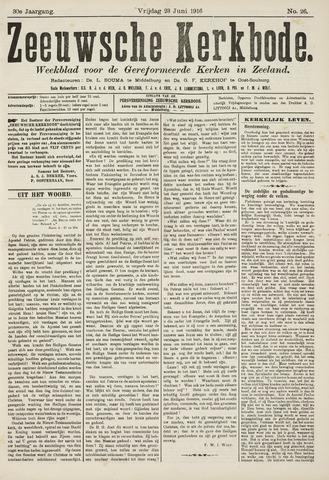 Zeeuwsche kerkbode, weekblad gewijd aan de belangen der gereformeerde kerken/ Zeeuwsch kerkblad 1916-06-23