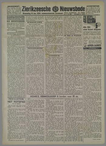 Zierikzeesche Nieuwsbode 1934-01-10