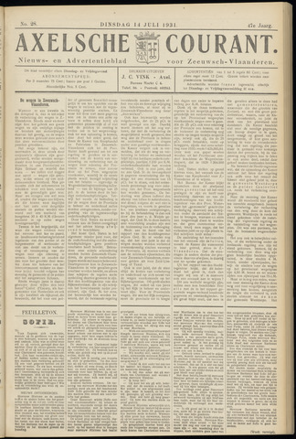 Axelsche Courant 1931-07-14