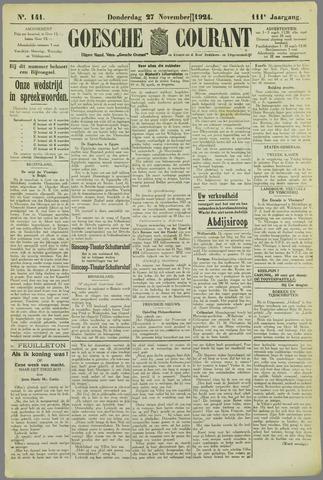 Goessche Courant 1924-11-27