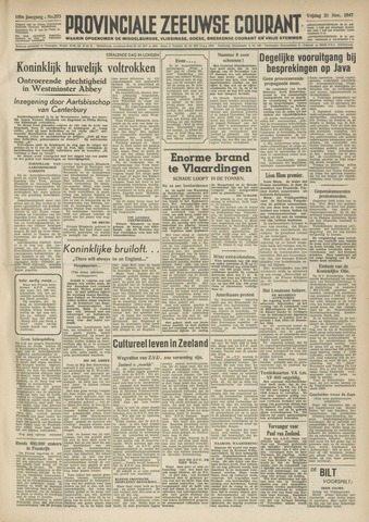 Provinciale Zeeuwse Courant 1947-11-21