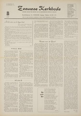 Zeeuwsche kerkbode, weekblad gewijd aan de belangen der gereformeerde kerken/ Zeeuwsch kerkblad 1970-08-27