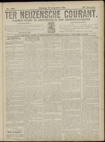 Ter Neuzensche Courant. Algemeen Nieuws- en Advertentieblad voor Zeeuwsch-Vlaanderen / Neuzensche Courant ... (idem) / (Algemeen) nieuws en advertentieblad voor Zeeuwsch-Vlaanderen 1919-08-26
