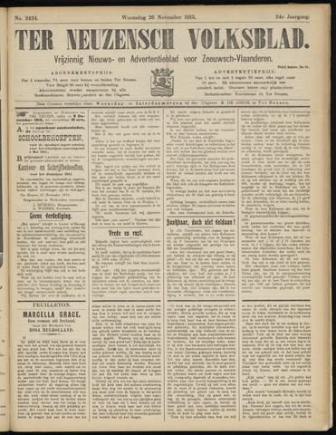 Ter Neuzensch Volksblad. Vrijzinnig nieuws- en advertentieblad voor Zeeuwsch- Vlaanderen / Zeeuwsch Nieuwsblad. Nieuws- en advertentieblad voor Zeeland 1913-11-26