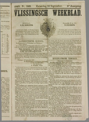 Vlissings Weekblad 1867-09-21