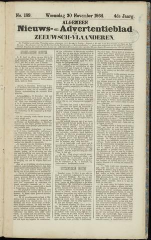 Ter Neuzensche Courant. Algemeen Nieuws- en Advertentieblad voor Zeeuwsch-Vlaanderen / Neuzensche Courant ... (idem) / (Algemeen) nieuws en advertentieblad voor Zeeuwsch-Vlaanderen 1864-11-30