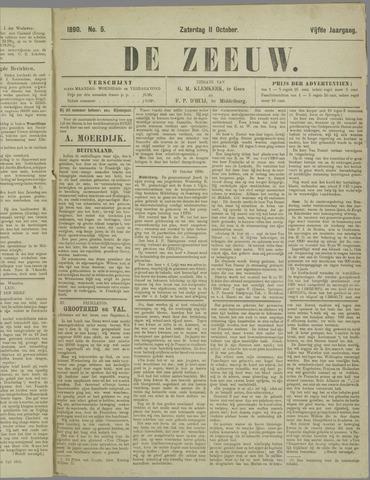 De Zeeuw. Christelijk-historisch nieuwsblad voor Zeeland 1890-10-11