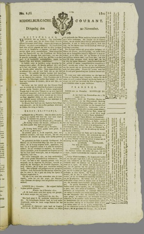 Middelburgsche Courant 1810-11-20