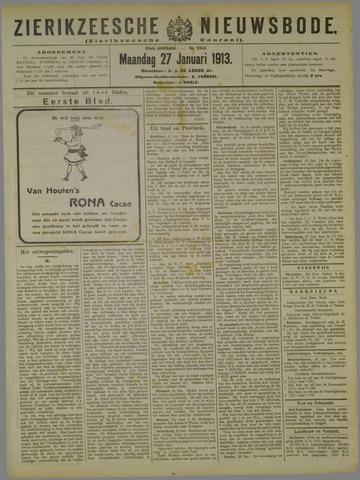 Zierikzeesche Nieuwsbode 1913-01-27
