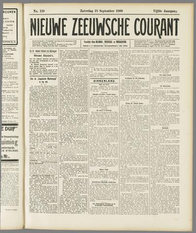 Nieuwe Zeeuwsche Courant 1909-09-18