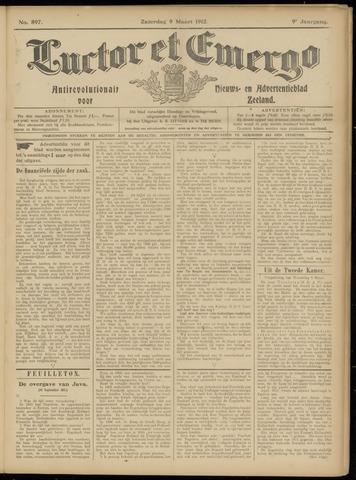 Luctor et Emergo. Antirevolutionair nieuws- en advertentieblad voor Zeeland / Zeeuwsch-Vlaanderen. Orgaan ter verspreiding van de christelijke beginselen in Zeeuwsch-Vlaanderen 1912-03-09