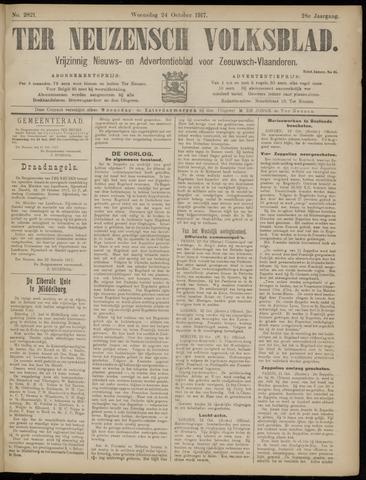 Ter Neuzensch Volksblad. Vrijzinnig nieuws- en advertentieblad voor Zeeuwsch- Vlaanderen / Zeeuwsch Nieuwsblad. Nieuws- en advertentieblad voor Zeeland 1917-10-24