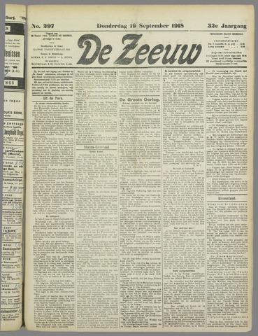 De Zeeuw. Christelijk-historisch nieuwsblad voor Zeeland 1918-09-19