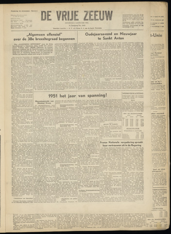 de Vrije Zeeuw 1951-01-02
