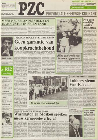 Provinciale Zeeuwse Courant 1986-08-01