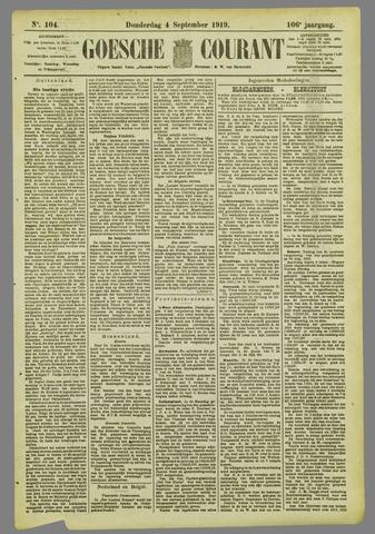 Goessche Courant 1919-09-04