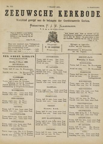 Zeeuwsche kerkbode, weekblad gewijd aan de belangen der gereformeerde kerken/ Zeeuwsch kerkblad 1891-03-07