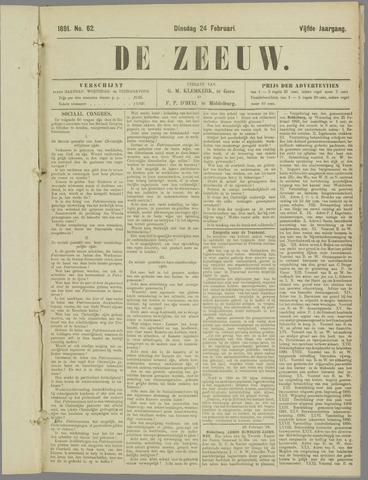 De Zeeuw. Christelijk-historisch nieuwsblad voor Zeeland 1891-02-24