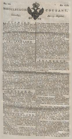 Middelburgsche Courant 1777-08-23