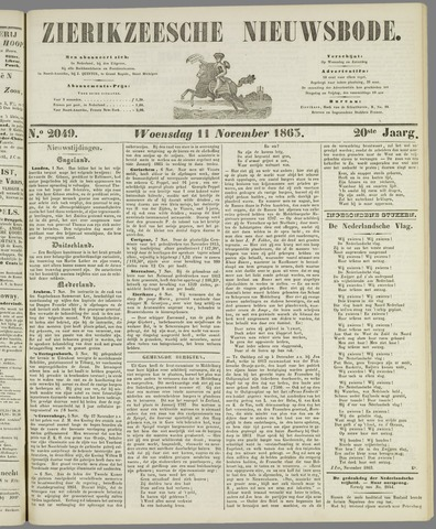 Zierikzeesche Nieuwsbode 1863-11-11