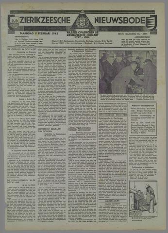 Zierikzeesche Nieuwsbode 1942-02-09