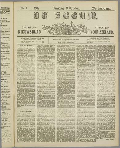 De Zeeuw. Christelijk-historisch nieuwsblad voor Zeeland 1912-10-08