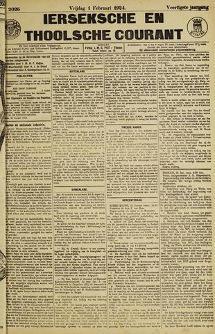 Ierseksche en Thoolsche Courant 1924-02-01