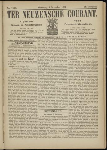 Ter Neuzensche Courant. Algemeen Nieuws- en Advertentieblad voor Zeeuwsch-Vlaanderen / Neuzensche Courant ... (idem) / (Algemeen) nieuws en advertentieblad voor Zeeuwsch-Vlaanderen 1882-11-08